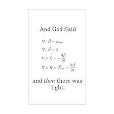 God Said Maxwell's Equations Rectangle Decal