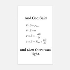 God Said Maxwell's Equations Rectangle Decal