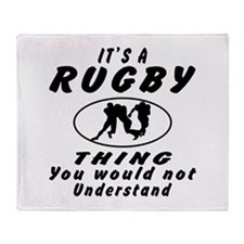 Rugby Thing Designs Throw Blanket