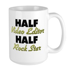 Half Video Editor Half Rock Star Mugs