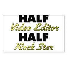 Half Video Editor Half Rock Star Decal