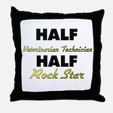 Half Veterinarian Technician Half Rock Star Throw