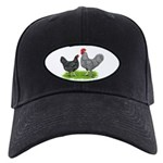Marans Rooster and Hen Black Cap