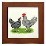 Marans Rooster and Hen Framed Tile