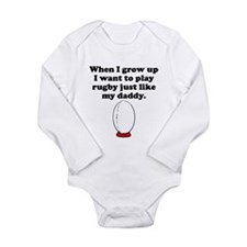Play Rugby Like My Daddy Body Suit