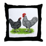 Marans Rooster and Hen Throw Pillow