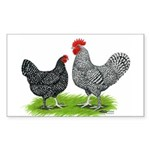 Marans Rooster and Hen Rectangle Sticker