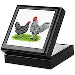 Marans Rooster and Hen Keepsake Box