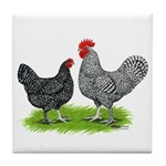 Marans Rooster and Hen Tile Coaster