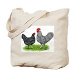 Marans Rooster and Hen Tote Bag