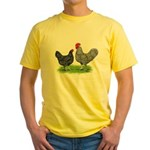 Marans Rooster and Hen Yellow T-Shirt