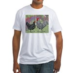 Marans Chickens Fitted T-Shirt
