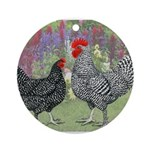 Marans Chickens Ornament (Round)