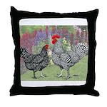 Marans Chickens Throw Pillow