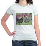 Marans Chickens Jr. Ringer T-Shirt