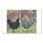 Marans Chickens Rectangle Sticker