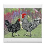 Marans Chickens Tile Coaster