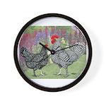 Marans Chickens Wall Clock