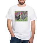 Marans Chickens White T-Shirt