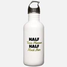 Half Town Planner Half Rock Star Water Bottle