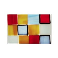 Checked Rectangle Magnet