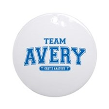 Grey's Anatomy Team Avery Round Ornament