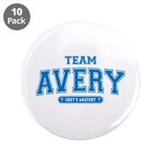 "Grey's Anatomy Team Avery 3.5"" Button (10 pack)"
