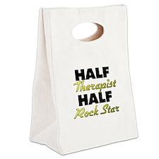 Half Therapist Half Rock Star Canvas Lunch Tote