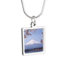 Mt. Fuji Silver Square Necklace