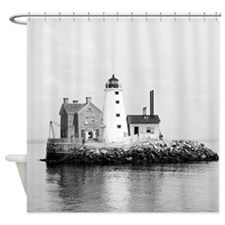 Island Lighthouse 1896 Shower Curtain