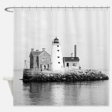 Island Lighthouse 1896 Shower Curtain