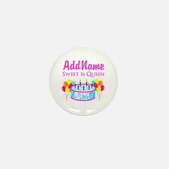 SWEET 16 QUEEN Mini Button