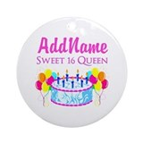 Sweet sixteen birthday Round Ornaments