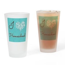 I love homeschool Drinking Glass