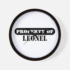 Property of Leonel Wall Clock