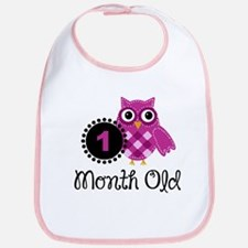 one month girl Bib