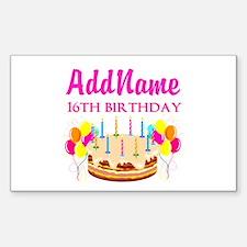 16TH BIRTHDAY Decal
