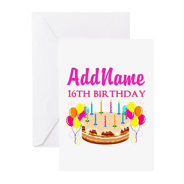 16TH BIRTHDAY Greeting Cards (Pk Of 10) By Jlporiginals