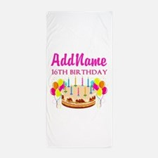 16TH BIRTHDAY Beach Towel