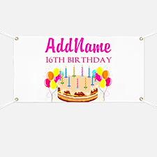 16TH BIRTHDAY Banner
