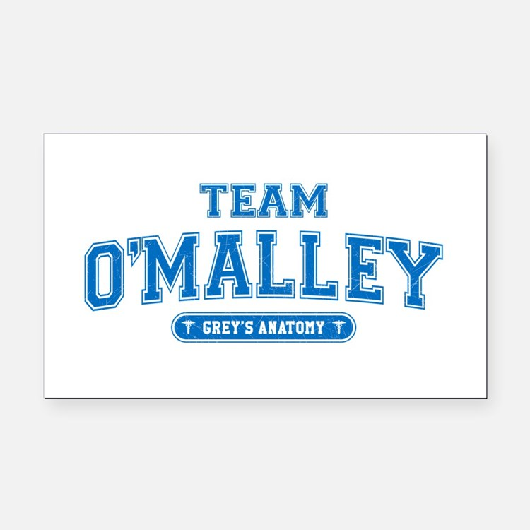 Grey's Anatomy Team O'Malley Rectangle Car Magnet