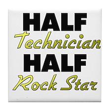 Half Technician Half Rock Star Tile Coaster