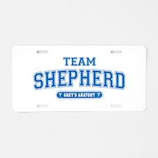 Grey's Anatomy Team Shepherd Aluminum License Plat