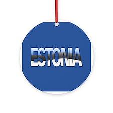 """""""Estonia Bubble Letters"""" Ornament (Round)"""