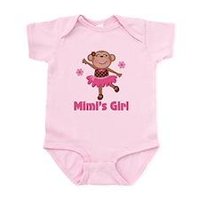 Mimi's Girl monkey Infant Bodysuit