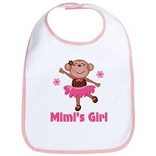 Mimi's Girl monkey Bib