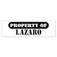 Property of Lazaro Bumper Bumper Sticker