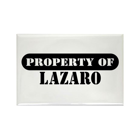 Property of Lazaro Rectangle Magnet (100 pack)