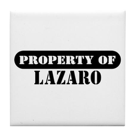Property of Lazaro Tile Coaster