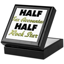 Half Tax Accountant Half Rock Star Keepsake Box
